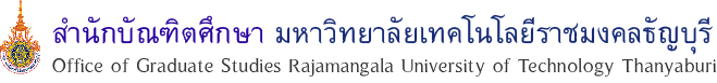 Office of Graduate Studies Rajamangala University of Technology Thanyaburi